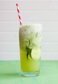 Cucumber Mojito. Would be a delicious mocktail