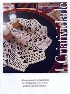Girassol Artes e Croché!: Toalhinha de croche com grafico.