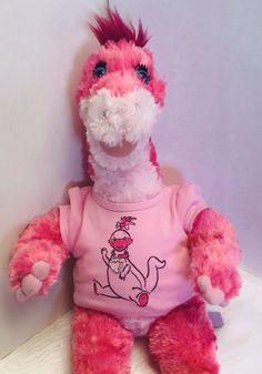 8c11da7c32a Build a Bear Dino Plush Stuffed Animal Pink Apatosaurus Dinosaur