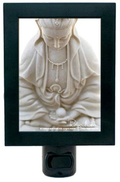 Illuminate your home with the goddess of love and compassion, Kwan Yin. This peaceful Kwan Yin night light will create a soft glow to help light your way.
