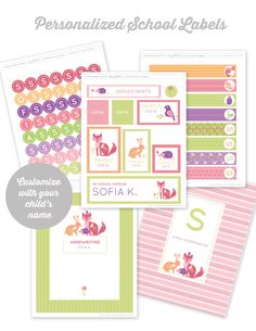 Free printable School Supply Labels for Girls and Boys #Backtoschool #WorldLabel http://liagriffith.com/printable-school-supply-labels-for-girls-and-boys/