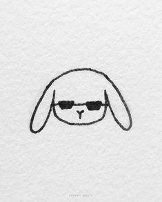 15 Cute Easy Bunny Rabbit Drawing Ideas Simple Cat Drawing, Very Easy Drawing, Drawing Ideas, Easy Animal Drawings, Love Drawings, Easy Drawings, Fluffy Rabbit, Bunny Rabbit, Carrot Drawing