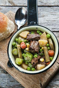Vegetable Beef Soup using leftover pot roast