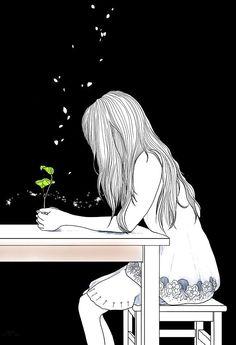 what should i draw Aesthetic Art, Aesthetic Anime, Alone Art, Japon Illustration, Girly Drawings, Sad Art, Digital Art Girl, Anime Scenery, Anime Art Girl