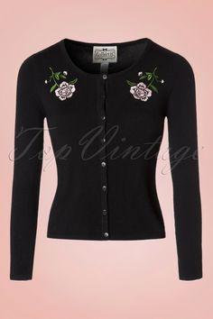 Collectif Clothing Jo Vintage Rose Cardigan 18899 20160601 0007w