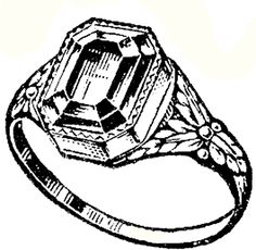 Antique Ring Image - The Graphics Fairy