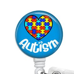 Retractable ID Badge Holder Autism Awareness Ribbon Any Profession by sparklinghope on Etsy https://www.etsy.com/listing/258747626/retractable-id-badge-holder-autism