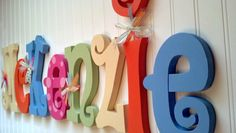 Hanging nursery letters nursery letters by BeautifulBabyofMine, $96.00