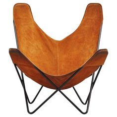 Butterfly chair by Jorge Hardoy Ferrari for Knoll 1970 | From a unique collection of antique and modern lounge chairs at https://www.1stdibs.com/furniture/seating/lounge-chairs/