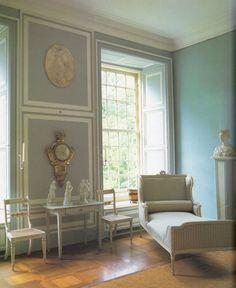 blue & white Swedish style