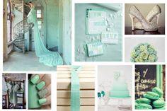 Collage ideas  Una boda con el color verde menta #wedding #decor #colors