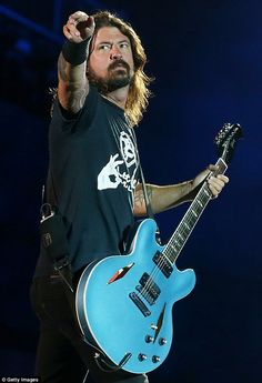 During the Foo Fighters concert in Sydney on Wednesday night, 46-year-old Grohl noticed a banner being held up by a blind man in the front row of the ANZ Stadium
