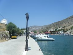 Greek Island Sailboat Harbor 1