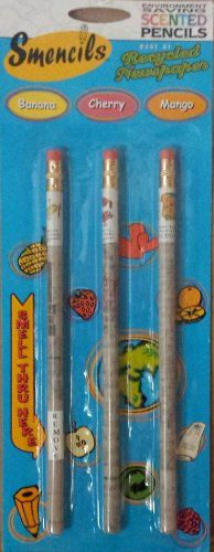 Smencils Scented Pencils 3 Pack - Mango, Banana, Cherry Smencils http://www.amazon.com/dp/B00IKT2ET8/ref=cm_sw_r_pi_dp_v7gNtb1GQE33FS5T