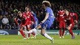 David Luiz (Chelsea FC)   Chelsea 6-1 Nordsjaelland. [05.12.12] David Luiz Chelsea, Fc Chelsea, Uefa Champions League, Soccer, Sports, Hs Sports, Futbol, Soccer Ball, Excercise