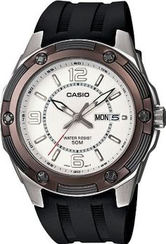 Casio Mens MTP13277A2V Black Resin Quartz Watch with White Dial * Find out more about the great product at the image link. (This is an Amazon affiliate link)