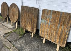 Fake rust effect paint on any surface, wood, metal and plastics. Firewood, Rust, Texture, Painters, Tables, Crafts, Furniture, Surface Finish, Mesas
