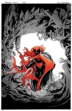 illustration by JH Williams for the cover of Batwoman #10.