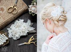 Haarschmuck & Kopfputz - Braut Haarschmuck Spitze Hochzeit Vintage Haarkamm - ein Designerstück von Princess_Mimi bei DaWanda