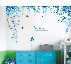 Office Wall Decals, Wall Decals For Bedroom, Office Walls, Vinyl Wall Decals, Baby Room Wall Stickers, Wall Drawing, Vine Wall, Kids Wall Decor, Wall Design