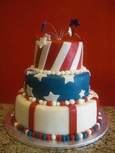American Theme cake