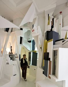 Kurt Schwitters, Merzbau. dada, created installation in his home was a collector and created collage