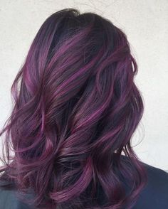 Hair Hair Color Balayage Purple Highlights Trendy Ideas Decorators Turn To Stone Surfaces Purple Balayage, Hair Color Balayage, Ombre Hair, Purple Hair Highlights, Most Common Hair Color, Hair Color Purple, Purple Wig, Pink Hair, Black And Purple Nails
