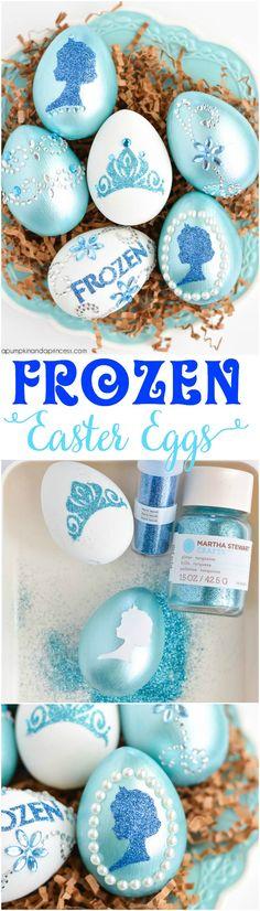DIY Disney Frozen Easter Eggs