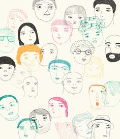 School diary on Behance | illustration, colors, drawing, faces