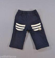 Pantalon jersey molletonné bleu marine Elle est où la mer 6 mois filles