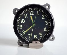 Tank Clock Cockpit Clock Russian Aircraft Clock by oldschoolvibes Vintage Man, Vintage Gifts, Aviation Furniture, Bedside Clock, Military Man, Man Cave, Garden Ideas, Aircraft, Stuff To Buy