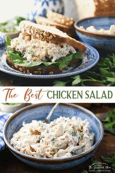 Southern Chicken Salads, Homemade Chicken Salads, Best Chicken Salad Recipe, Rotisserie Chicken Salad, Cooked Chicken Recipes, Turkey Recipes, Salad Chicken, Canned Chicken, Roast Chicken