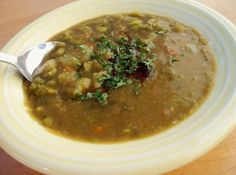 Best vegan Split Pea Soup I've had yet. The balsamic vinegar really makes up for the lack of ham- and much healthier!