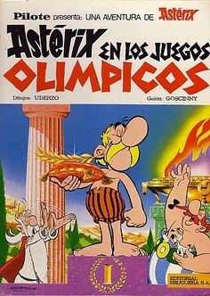 A fun way to interest kids in the Olympics: Asterix at the Olympic Games by Goscinny and Uderzo The students at my school can't get enough of Asterix and Obelix comic books Lucky Luke, Asterix E Obelix, Albert Uderzo, Good Books, My Books, Books For Boys, Fun Comics, Comic Covers, School