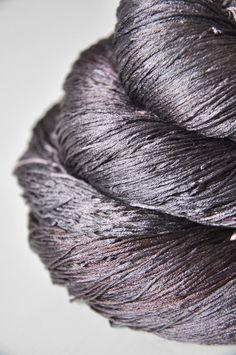 Stalker in the shadows OOAK  Silk Yarn Lace weight by DyeForYarn, €27.00