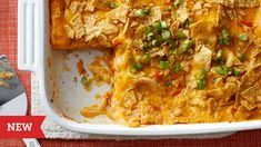Chicken Queso Lasagna - Searching for a weeknight dinner that's sure to be devoured? Look no further than this dish that combines queso dip and lasagna, for a cheesy, craveable update on a classic family favorite. Mexican Dishes, Mexican Food Recipes, Dinner Recipes, Ethnic Recipes, Mexican Entrees, Mexican Cooking, Enchiladas, Chicken Pasta, Chicken Lasagna