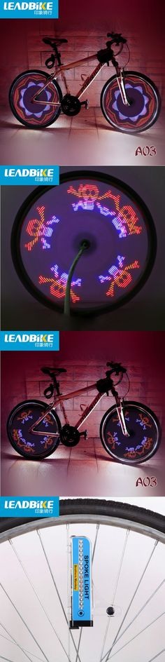 Leadbike 32 LED 42 Patterns Bicycle LED Light For Bike Spokes Wheel Cycling Bycicle Light MTB Bicicletta Bicycle Accessories