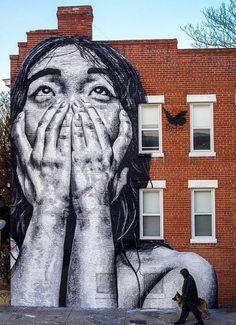 """Street Art"" has received a lot of attention lately .- ""Street Art"" hat in letzter Zeit viel Aufmerksamkeit erhalten. Wir sind schon … – Street Art Trend 2019 Street art has received a lot of attention lately. We are beautiful …, - Street Art Banksy, Murals Street Art, 3d Street Art, Urban Street Art, Best Street Art, Amazing Street Art, Art Mural, Street Artists, Amazing Art"