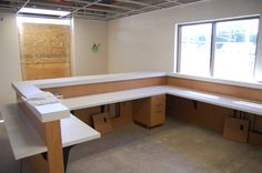 school reception desk design - Google Search