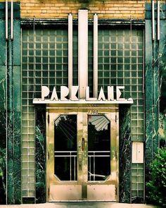 "Montreal photography geometric print art deco architecture green glass chrome urban retro home decor – ""Park Lane Apartments"" 8 x 10 - Decoration For Home Estilo Art Deco, Art Nouveau, Corporate Identity Design, Goth Vintage, Vintage Green, Watercolor Wall, Moda Art Deco, Design Industrial, Art Deco Stil"