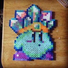 Ice Kirby perler bead sprite by artistic_mandie_kat