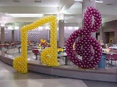 music note balloon arch - Bing Images