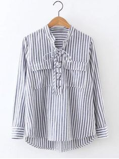 GET $50 NOW | Join RoseGal: Get YOUR $50 NOW!http://www.rosegal.com/blouses/long-sleeve-high-low-striped-871061.html?seid=8047480rg871061