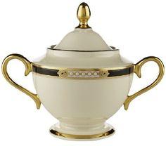 Lenox Hancock Gold Banded Fine China Sugar Bowl With Lid:Amazon:Kitchen U0026