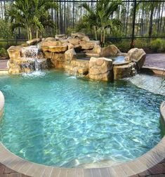 Every person loves luxury pool styles, aren't they? Here are some leading list of luxury pool image for your inspiration. These fanciful pool design ideas will change your backyard into an outside sanctuary. Small Swimming Pools, Small Pools, Swimming Pools Backyard, Swimming Pool Designs, Pool Landscaping, Indoor Swimming, Indoor Pools, Landscaping Design, Inground Pool Designs