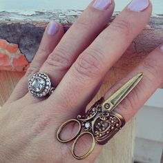 Hey, I found this really awesome Etsy listing at http://www.etsy.com/listing/124765221/new-scissor-rhinestone-ring-antique