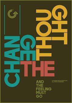 Changethethought Type Poster by Changethethought