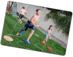 Splash Ground!  Backyard splash pad ... Leave it exposed and portable, or put it in ground! This thing is awesome!
