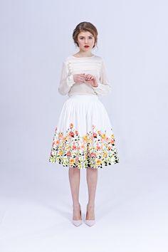 50s wedding skirt 1950s skirt cotton wedding skirt by mrspomeranz
