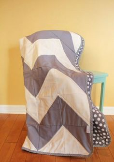Chevron quilt. Made using triangles. by heidi